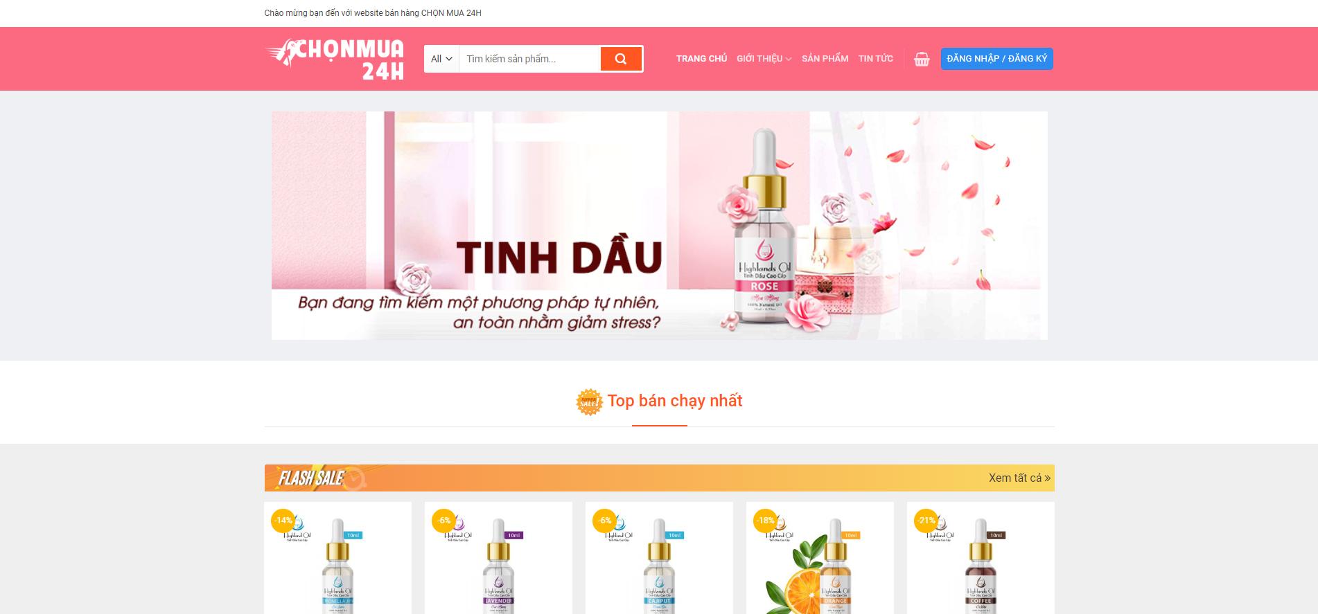 thiết kế website bán hàng chonmua24h