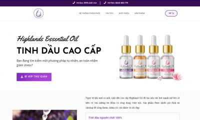 Thiết kế website Tinh Dầu