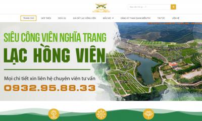 thiết kế website BĐS Nghĩa Trang